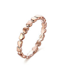 Rose Gold Heart Ring Love Band  Size L M P Q R  51 to 58