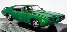 Motormax 1/24 Scale - 1969 Pontiac GTO Judge Green Diecast model car
