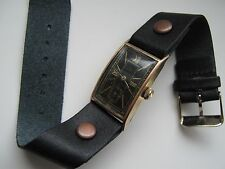 Antique Hy MOSER & Cie men's watch with rolled yellow gold plated case, 1920s