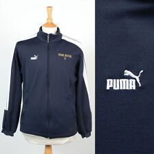 MENS PUMA VINTAGE RETRO PEAK SOCCER DARK BLUE TRACKSUIT TOP TRACK JACKET S
