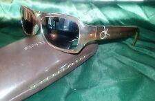 Vintage Glasses Calvin Klein Brown Frame Optical  Lenses Eyewear