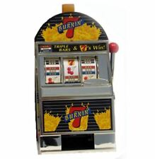 Trademark Burning 7 Slot Machine Bank Game Arcade Games Casino Replica Games NEW