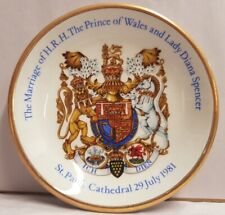 Wood & Sons Royal Wedding Charles & Diana Pin Dish c1981 Made In England