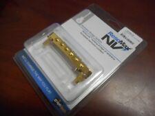 NEW Graph Tech Resomax NVS 4mm Tunematic Bridge - GOLD, PSU-8843-G0