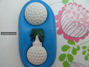 Golf Tee & Ball Sports Hobby Silicone Mould/Mold Sugar Craft, Cupcakes, Toppers