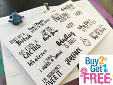 PP365-- FU*K YOU Snarky Adulting Is Hard Planner Stickers 4 Erin Condren (16pcs)