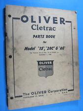 1948 OLIVER CLETRAC PARTS BOOK CATALOG 15 20C AG 76 TO 2X9999 ORIGINAL