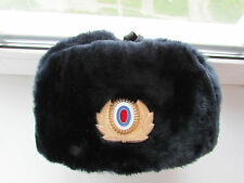 Genuine MANY SIZES Russian Police Officer Fur Hat Cap Uniform Original Rare 100%