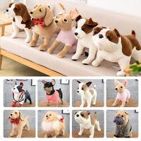 Realistic 10 types Dog Plush Toy Stuffed Animal Pet Standing Doll Kid Gift 12''
