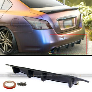 For 7th Gen 09-15 Nissan Maxima ST Style Rear Bumper Chin Lip Diffuser Spoiler