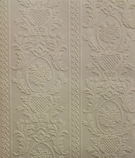 Textured Embossed Patterned Blown Vinyl White Wallpaper 261618 Anaglypta Paint