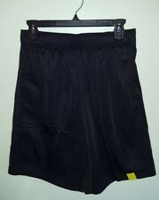 """NWT Tek Gear Men's SMALL Training Shorts BLACK Above the Knee POLY 9"""" Inseam #32"""