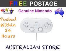 Genuine Nintendo Wii White Classic Controller Pro Pad Remote SNES NES Mini