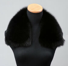 Classic Genuine 100% real black fox fur collar women men high quality 50cm