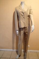 ralph lauren sz 4,silk blend,tan BLAZER, Ladies SUIT Jacket,pants, *z