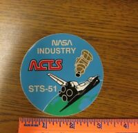 Vintage NASA ACTS Satellite Space Shuttle Discovery Mission STS-51 Sticker US