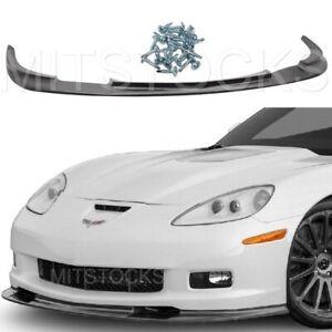 Fits 06-13 Corvette C6 GS Z06 ZR1 Style ADD-ON Front Bumper Lip Spoiler Chin PU