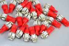 Bulk 20 X T10 LED RED BRIGHT DASH LEDS Light Bulbs WARRANTY
