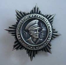 POLISH POLAND ARMY communist BADGE OF OPPRESSED MINERS-SOLDIERS