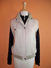 Tehama Nancy Haley Womens Size M Stone Microsuede Zip Golf Vest