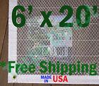 6' x 20' Clear Poly Tarp Room Divider Patio Porch Enclosure Fumigation Curtain