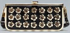 ZARA WOMAN METALLIC ROSE FLOWER BOX CLUTCH BAG!