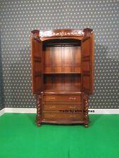 Large Jacobean TUDOR Armoire wardrobe Mansion Twist solid 100% Mahogany wood