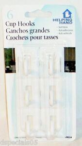 Helping Hands 6 Plastique Crochets 70114 Neuf En Paquet