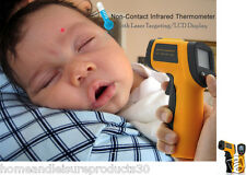 Non-Contact Infrared Thermometer with Laser Targeting & LCD Display