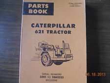 Caterpillar Parts Book 621 Tractor S/N 23H1 to 23H2222 Inclusive