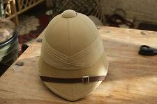BRITISH ARMY REPRO EXPLORERS ZULU WAR KHAKI SOLA PITH HELMET CLOTH SUN HAT