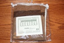 """Park Designs Lined Border Valance 72"""" x 14"""" Shades of Brown NEW"""