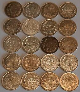 "EGYPT / 1 Qirsh ""Lot of 20 Coins"" High grades #2 !!"