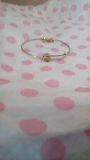 Alex & Ani Sacred Studs Compass Gold Plated Bangle Bracelet Rare