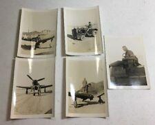 WW2 Original American Bell p-39 Aircobra Fighter Plane North Africa Photographs