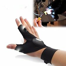 LED Finger Glove Flashlight Torch Hunting Night Vision Plumbing Electrician