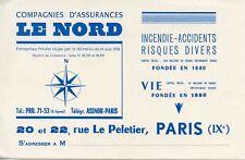 BUVARD / PUBLICITAIRE / COMPAGNIES D'ASSURANCES LE NORD