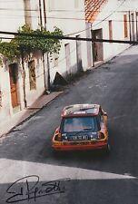 Jean Ragnotti foto firmada de mano 12x8 Renault Rally 7.