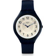 SWATCH SKIN orologio uomo ultrasottile numeri grandi SKINNIGHT 40mm SVUN101