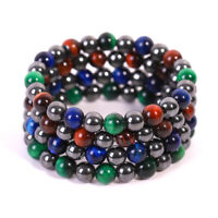 Fashion Weight Loss Hematite Beads Stretch Bracelet Anti-Fatigue Magnetic Bangle