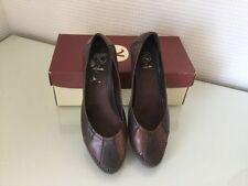 Business 100% Leather Wide (E) Cuban Heels for Women