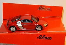 MICRO METAL DIE CAST SCHUCO 3 INCHES 1/64 AUDI R8 ROUGE IN BOX