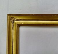 "ANTIQUE FITS 5"" x 9"" GOLD GILT ORNATE WOOD PICTURE FRAME FINE ART VICTORIAN"