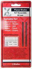 2 x 82mm Makita Ryobi Skil Trend type TCT PLANER BLADES, brand new and sealed