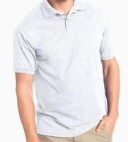 Cutter & Buck Light Gray Short Sleeve 100% Cotton Polo Shirt Large