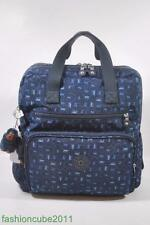 New KIPLING Audrie Diaper Bag Backpack with Changing Pad - Monkey Mania Blue