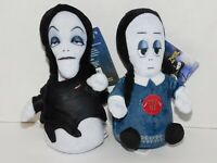 Addams Family TWO 6 in Dolls Singing Squeezers Theme Song Morticia & Wednesday