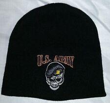 #686 U.S. Army Pirates Black Beanie Stocking Cap -NWOT