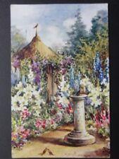 Sun Dial in Flower Garden by J.Salmon No.3812