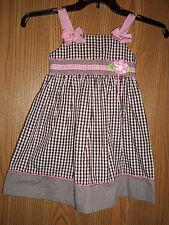 Blueberi Boulevard Dress Size 6 Pink Brown Gingham Flower